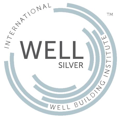 Well Building Institute Silver Blue logo